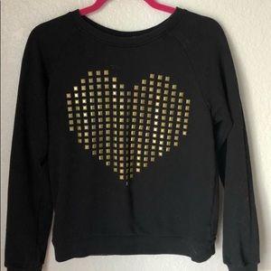 Forever 21 - GOLD STUDDED HEART SWEATSHIRT